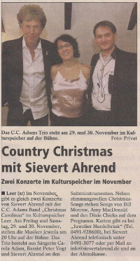 Country Christmas mit Sievert Ahrend